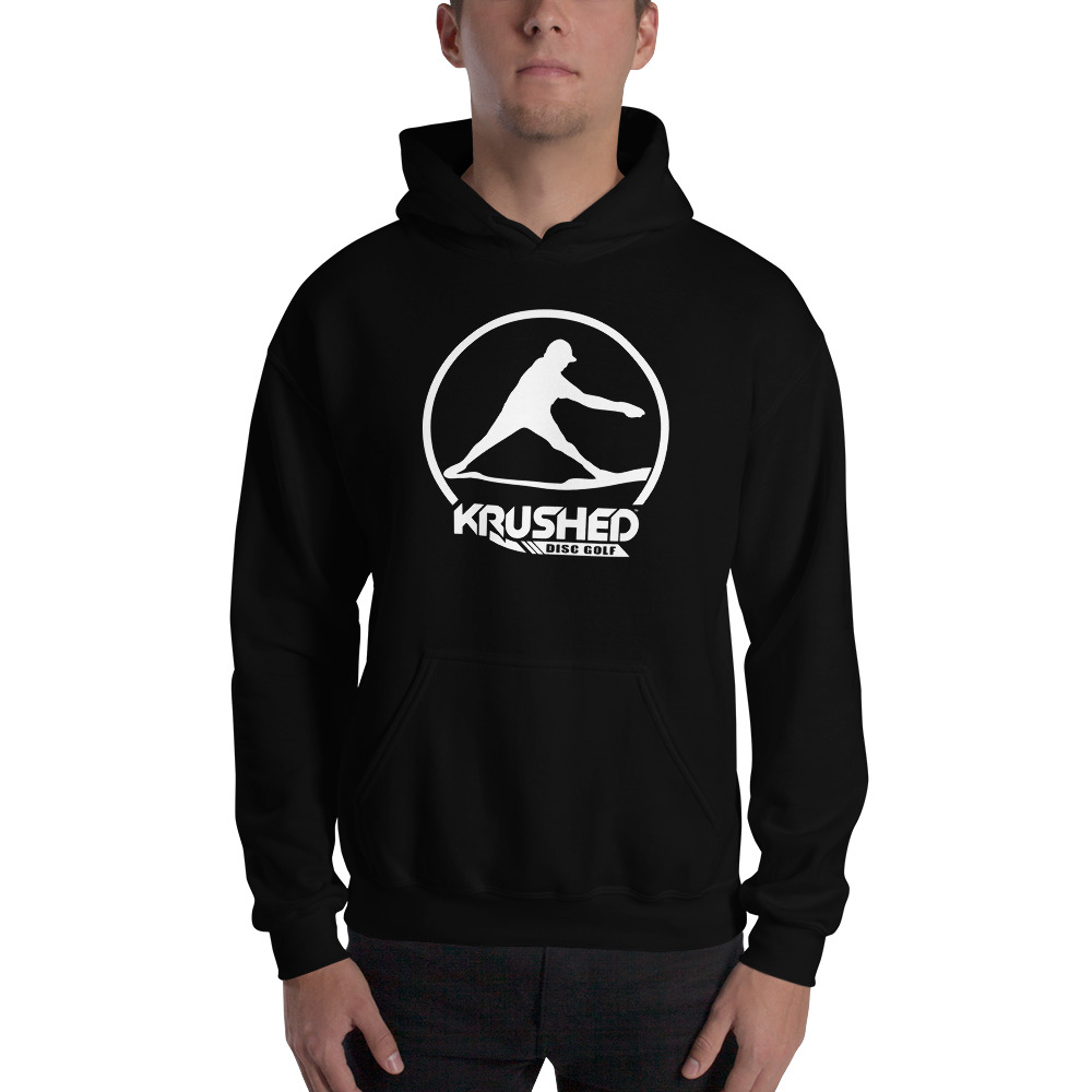 780be7b6 Hooded Sweatshirt – Krushed Thrower White | Krushed Disc Golf