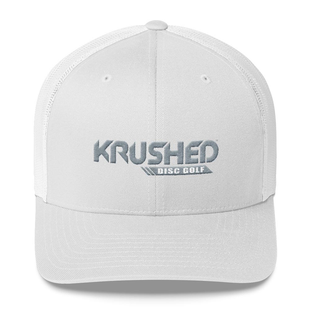 eed92ec5d Yupoong 6606 Retro Trucker Cap - Krushed Logo Grey/White