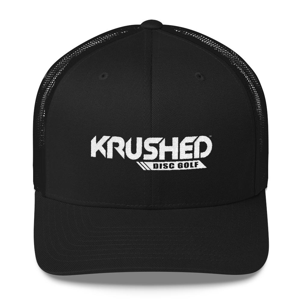 7e044994c Yupoong 6606 Retro Trucker Cap - Krushed Logo White/Black